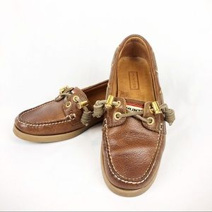 Hunter Willemberg Boat Shoes Brown Leather US 5